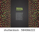 abstract background with... | Shutterstock .eps vector #584086222