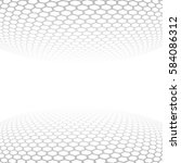 carbon fiber texture. vector... | Shutterstock .eps vector #584086312