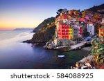 Riomaggiore Village On Cliff...