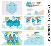 website design. colored...