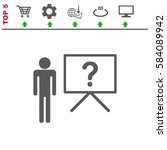 presentation icon vector flat... | Shutterstock .eps vector #584089942
