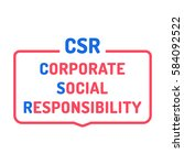 csr or corporate social... | Shutterstock .eps vector #584092522