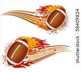 flame american football design... | Shutterstock .eps vector #58409824