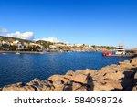 yacht marina at harbour puerto... | Shutterstock . vector #584098726