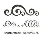 swirl elements for design.... | Shutterstock . vector #584098876