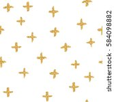 seamless pattern with crosses  ... | Shutterstock . vector #584098882