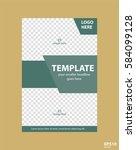 flyer concept brochure template ... | Shutterstock .eps vector #584099128