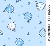 marine seamless pattern cute...