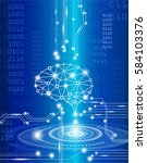 technology concept digital... | Shutterstock .eps vector #584103376