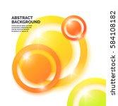 modern abstract geometric... | Shutterstock .eps vector #584108182
