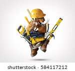 construction tools with a shoes ... | Shutterstock . vector #584117212