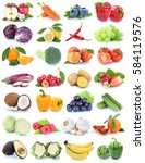 fruits and vegetables... | Shutterstock . vector #584119576