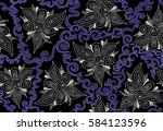 abstract decorative floral... | Shutterstock .eps vector #584123596