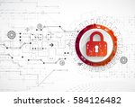 protection concept. security... | Shutterstock .eps vector #584126482