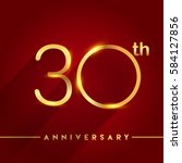 celebrating of 30 years...   Shutterstock .eps vector #584127856