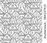 seamless vector pattern with... | Shutterstock .eps vector #584137915
