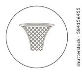 basketball hoop icon outline....   Shutterstock .eps vector #584156455