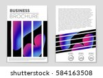 abstract vector layout... | Shutterstock .eps vector #584163508