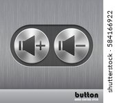set of round metal button with... | Shutterstock .eps vector #584166922