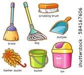 vector illustration of cartoon... | Shutterstock .eps vector #584167606