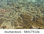crystal blue water and stone... | Shutterstock . vector #584175136