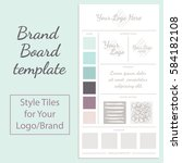 vector moodboard template with... | Shutterstock .eps vector #584182108
