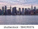 new york skyline with empire... | Shutterstock . vector #584190376