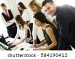 group of business people... | Shutterstock . vector #584190412