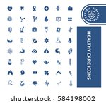health care icon set clean... | Shutterstock .eps vector #584198002