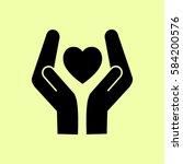 heart and hands | Shutterstock .eps vector #584200576
