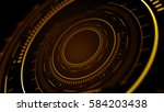 side view of abstract digital... | Shutterstock . vector #584203438
