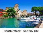 lago di garda   pictorial view... | Shutterstock . vector #584207182