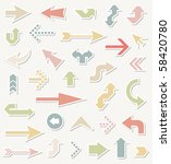 vector arrows | Shutterstock .eps vector #58420780