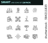set of thin line business icons.... | Shutterstock .eps vector #584211835