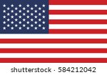 flags america | Shutterstock .eps vector #584212042