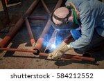 welder  construction.  | Shutterstock . vector #584212552