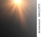 sun vector on transparent... | Shutterstock .eps vector #584213572