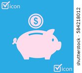 piggy bank icon. pictograph of... | Shutterstock .eps vector #584218012