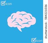 brain icon. human intelligent...   Shutterstock .eps vector #584221036