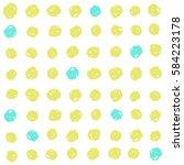 cute green and blue dots... | Shutterstock .eps vector #584223178