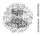 saint patrick's day traditional ...   Shutterstock .eps vector #584224456