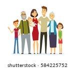 family   colored vector modern... | Shutterstock .eps vector #584225752