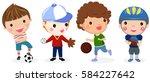 group of sport boys | Shutterstock .eps vector #584227642