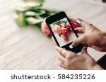instagram photographer blogging ...   Shutterstock . vector #584235226