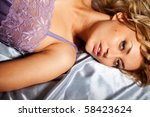 portrait of attractive blond...   Shutterstock . vector #58423624