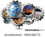 renewable energy concept   3d... | Shutterstock . vector #584238172