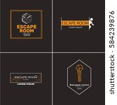 the logo for quest room. real...   Shutterstock .eps vector #584239876