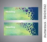 geometric figures banners | Shutterstock .eps vector #584241562