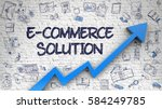 e commerce solution   modern... | Shutterstock . vector #584249785