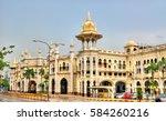 kuala lumpur old railway... | Shutterstock . vector #584260216